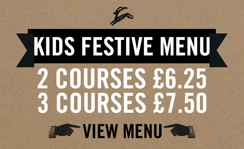 Kids Festive Menu at The Beverley